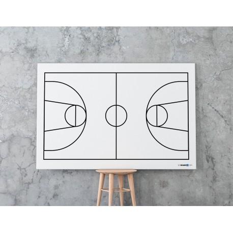 Suchościeralna tablica whiteboard z boiskiem koszykówki, koszykówka