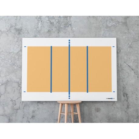 Suchościeralna tablica z boiskiem do siatkówki 120 x 80 cm