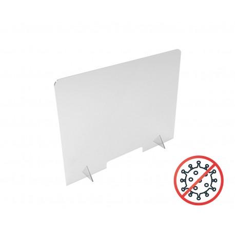 Stojąca osłona bezbarwna na ladę lub biurko 100 x 80 cm - antiCOVID
