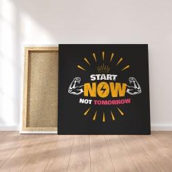 Obraz na płótnie Never Give Up 80 x 80 cm