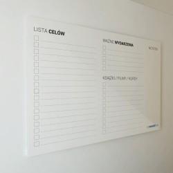 Organizer uniwersalny 120 x 80 cm - Tablica Plexi